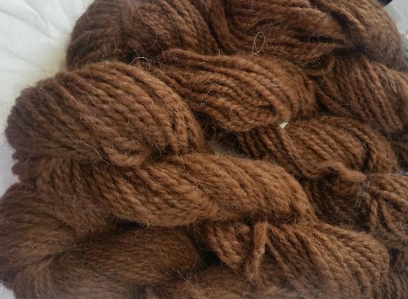 BFL Finest Hand Spun 2 Ply Yarn Camel Tussah Silk Alpaca
